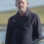 Douglas Henshall Shetland DI Jimmy Perez Wool Blend Peacoat