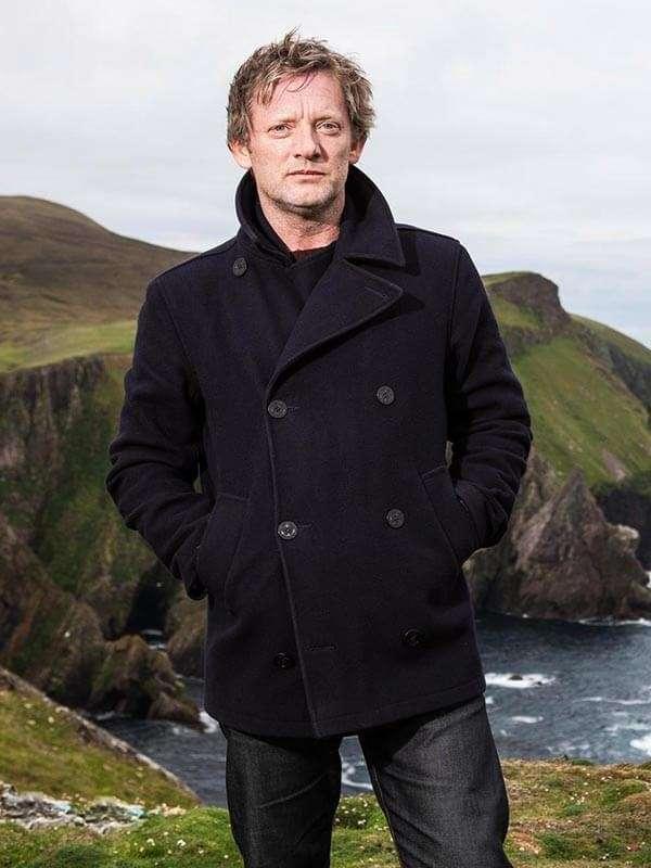 Douglas Henshall Shetland Tv Series Wool Peacoat