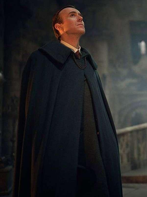 Dracula Black Wool Cape