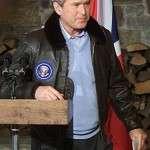 George Bush Bomber Leather Jacket