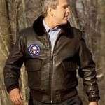 George Bush Brown Bomber Jacket