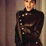 GoldenEye Famke Janssen Military Black Leather Jacket