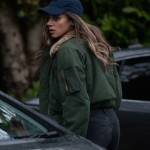 Hannah John-Kamen The Stranger Olive Green Shearling Jacket
