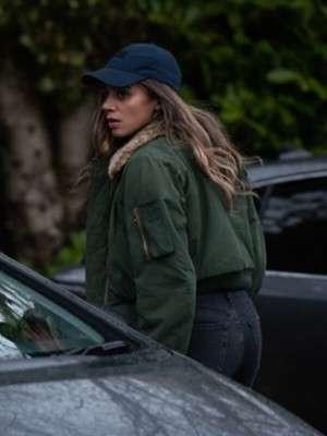 The Stranger Hannah John-Kamen Shearling Collar Jacket
