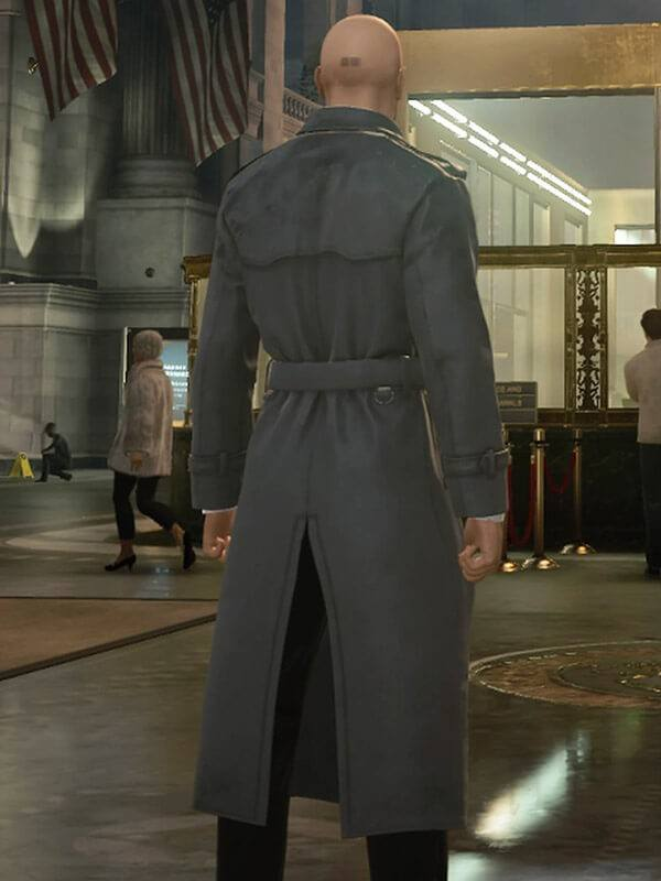 Hitman 2 Silent Assassin Agent 47 Double Breasted Coat