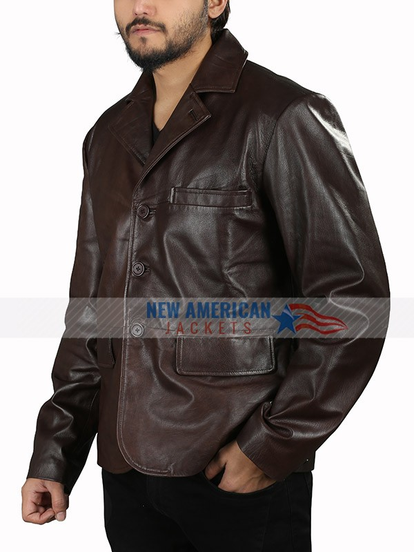 Hugh Grant The Gentlemen Brown Leather Jacket