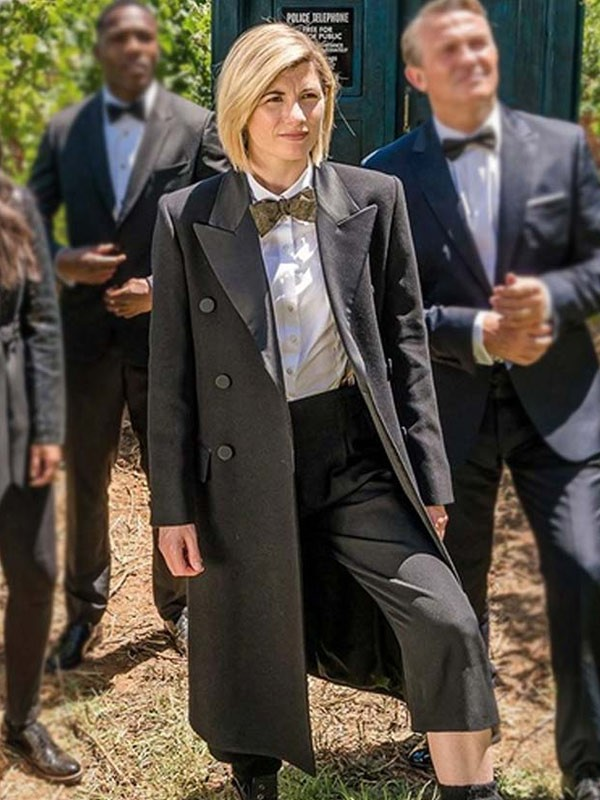Jodie Whittaker Black Trench Coat