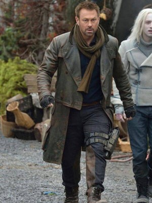 Grant Bowler Defiance Distressed Leather Coat