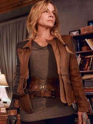 Amanda Rosewater Tv Series Defiance Brown and Blue Jacket