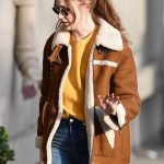 Karen Gillan Suede Leather Jacket