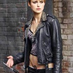 Keira Knightley Black Leather Jacket