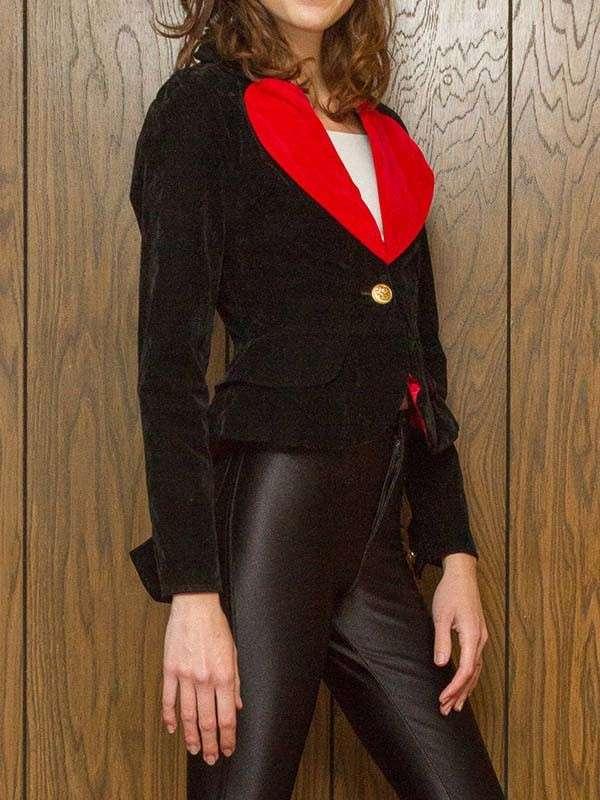Love Heart Black Blazer Jacket