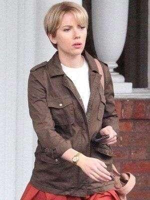 Nicole Marriage Story Scarlett Johansson Brown Jacket