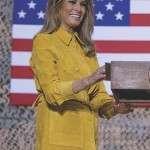 Melania Trump Suede Leather Jacket