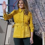 Melania Trump Yellow Leather Jacket