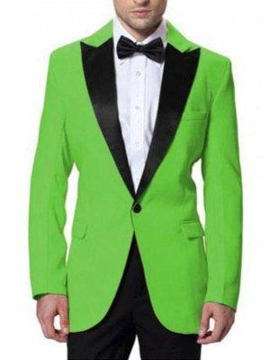 Neon Green Tuxedo Suit Jacket