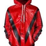Michael Jackson Thriller Red Hooded Jacket