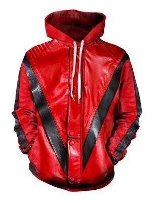 Singer Michael Jackson Thriller Hooded Jacket