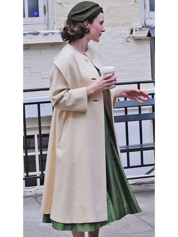 Midge Maisel The Marvelous Mrs.Maisel Rachel Brosnahan Wool Coat