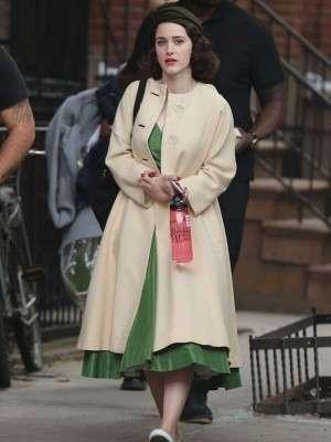 The Marvelous Mrs. Maisel Rachel Brosnahan Wool Coat