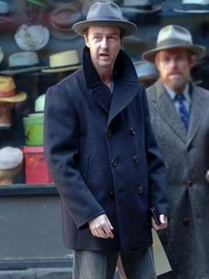 Motherless Brooklyn Edward Norton Wool Pea Coat