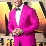 Movie Jumanji The Next Level The Rock Pink Blazer