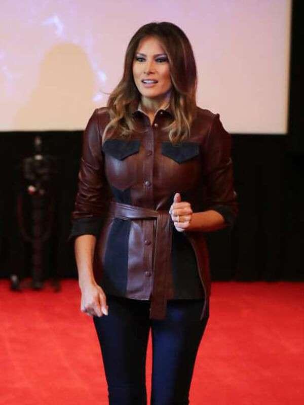 Ms Trump Melania Leather Jacket