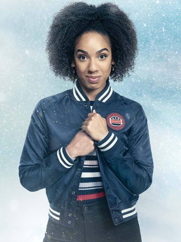 Pearl Mackie Doctor Who Season10 Bomber Style Jacket