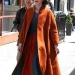 Rachel Brosnahan The Marvelous Mrs.Maisel Orange Wool Coat
