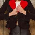 Red Love Heart Black Blazer Jacket