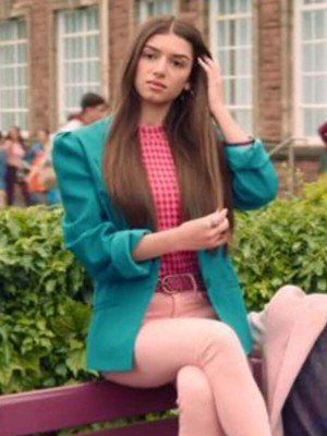 Mimi Keene Sex Education SO2 Ruby Green Coat