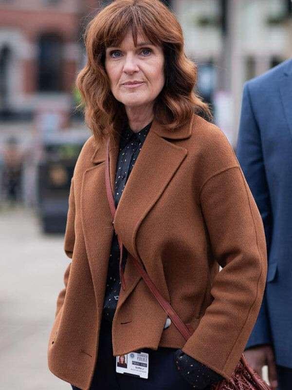 Siobhan Finneran The Stranger Series Wool Brown Jacket