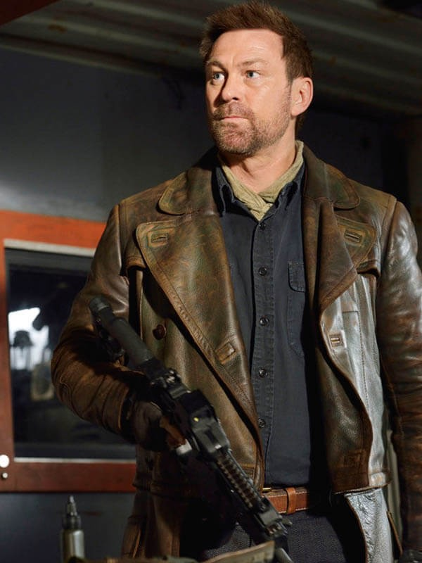TV Series Defiance Grant Bowler Distressed Coat