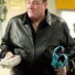 TV Series The Sopranos James Gandolfini Black Leather Jacket