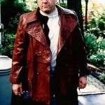 TV Series The Sopranos Tony Brown Leather Coat