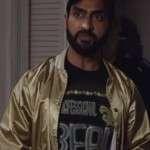 The Lovebirds Jibran Golden Bomber Jacket