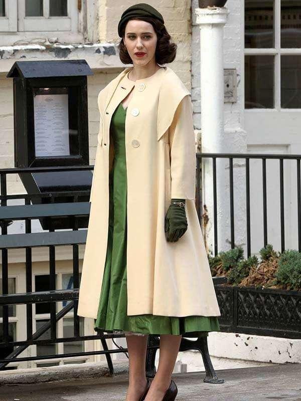 The Marvelous Mrs.Maisel Rachel Brosnahan Trench Wool Coat