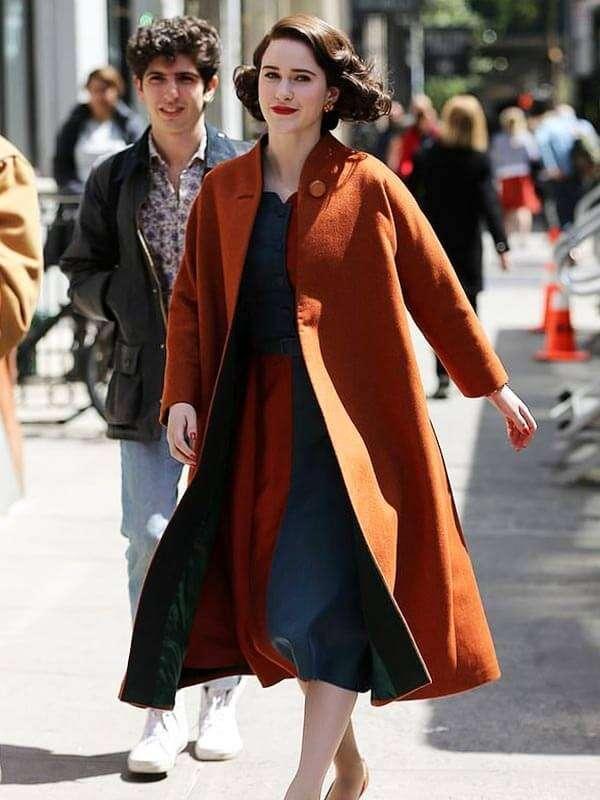 The Marvelous Mrs.Maisel Rachel Brosnahan Wool Trench Coat