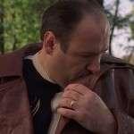 The Sopranos Season 02 James Gandolfini Brown Leather Coat