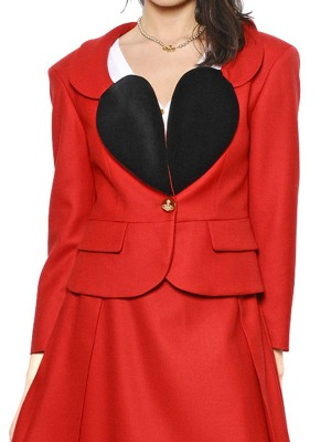 Vivienne Heart Lapel Shape Red Blazer