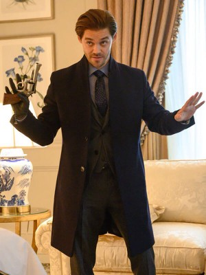 Prodigal Son Tom Payne Black Wool Coat