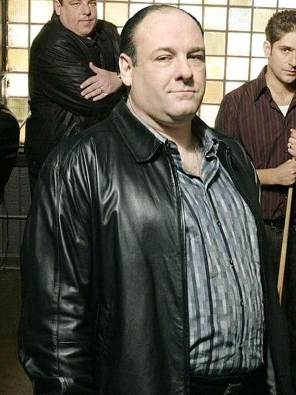 Tony Soprano The Sopranos Black Leather Jacket