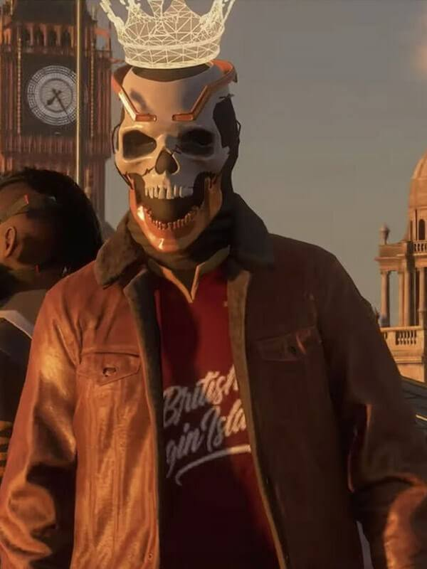 Watch Dogs 3 Brown Leather Jacket