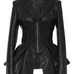 Women Fashion Frock Leather Jacket