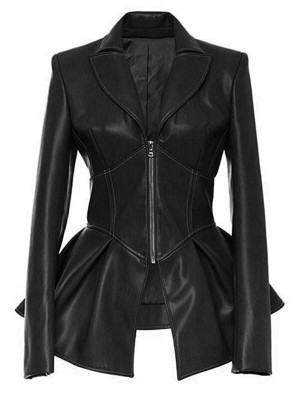 Women Fashion Frock Black Jacket
