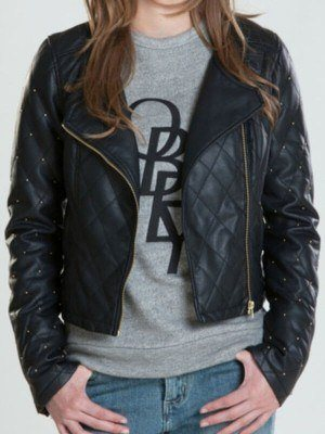Women Neon Black Jacket