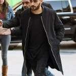 Zayn Malik NYC Wool Black Coat for Mens