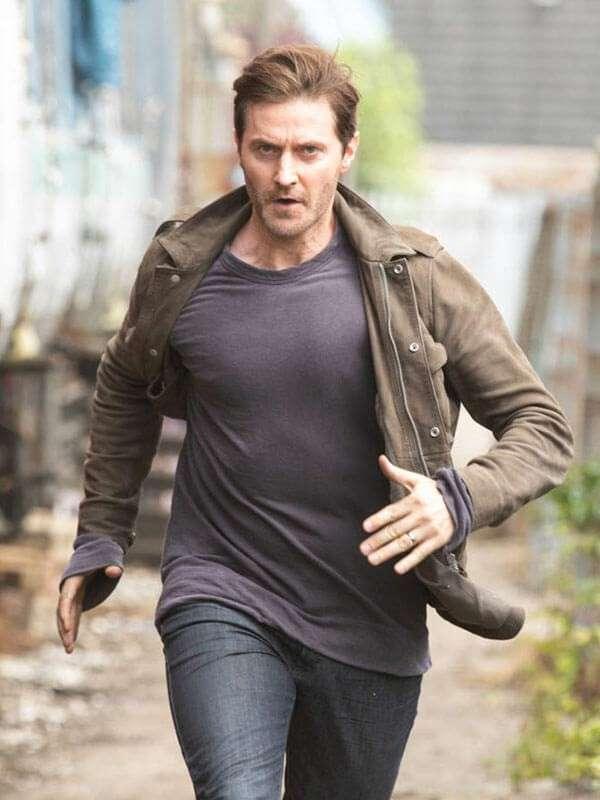Adam Price Brown Cotton the Stranger Tv Series Jacket