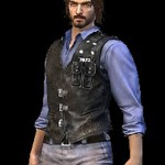 Andrew Video Game Free Fire Black Leather Vest
