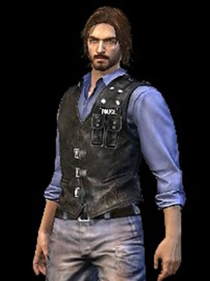 Video Game Free Fire Andres Suede Leather Black Vest